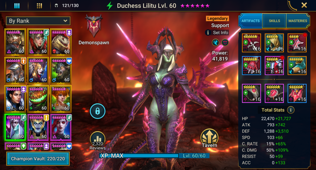 Raid Shadow Legends - Duchess Lilitu Build