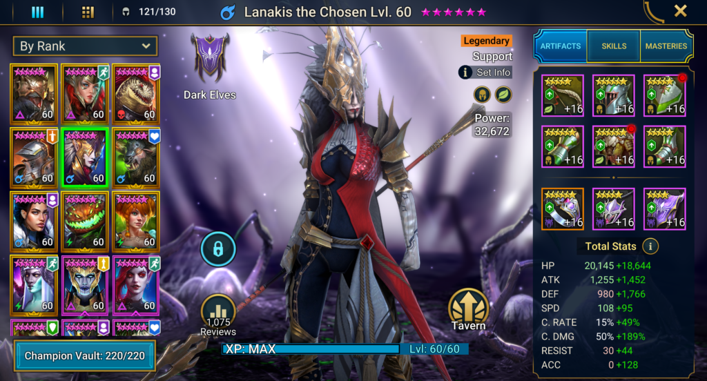 Raid Shadow Legends - Lanakiss The Chosen Build